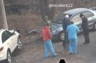 На территории барнаульской больницы произошло серьезное ДТП