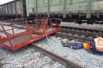Заведено дело после смертельного тарана поездом вышки с тремя рабочими на Алтае