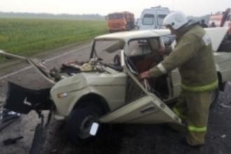 В ДТП в Алтайском крае пострадали 7 человек