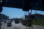 В Барнауле экскаватор снес часть моста