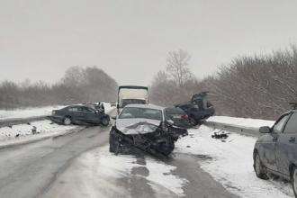 В Алтайском крае столкнулись 4 машины